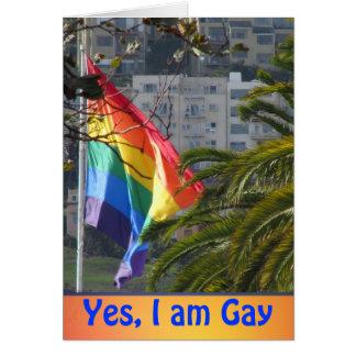 Soy sí gay tarjeta de felicitación