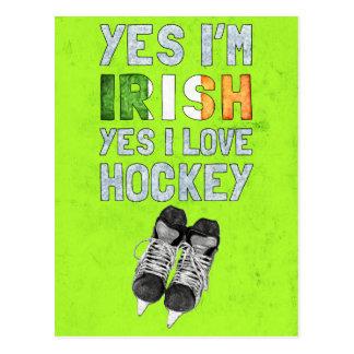 Soy sí irlandés, yo amo sí hockey postales