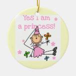 Soy sí princesa adorno redondo de cerámica