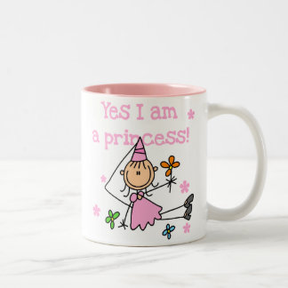 Soy sí princesa taza dos tonos