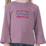 Soy sí totalmente uno derful (el chica) camiseta