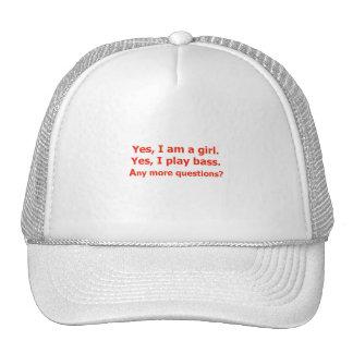 soy sí un rojo bajo del juego del texto del chica  gorras de camionero