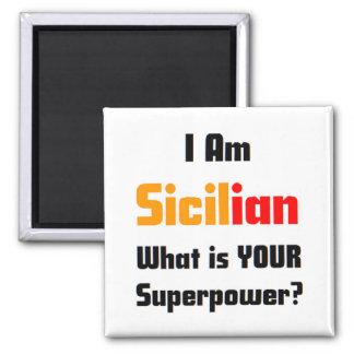 Soy siciliano imán cuadrado