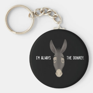 """""""Soy siempre el burro"""" Llavero Redondo Tipo Pin"""