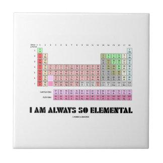 Soy siempre elementos de tabla periódica tan azulejo cuadrado pequeño