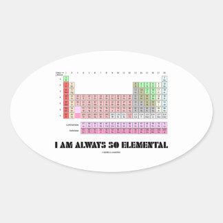 Soy siempre elementos de tabla periódica tan pegatina ovalada