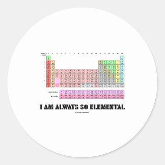 Soy siempre elementos de tabla periódica tan pegatina redonda