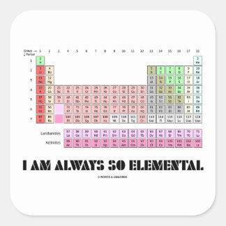 Soy siempre elementos de tabla periódica tan pegatina cuadrada