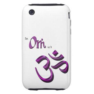 Soy símbolo Aum de OM-ish OM Carcasa Though Para iPhone 3