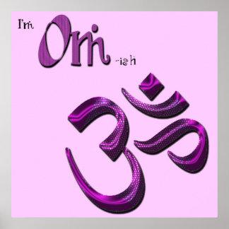 Soy símbolo Aum de OM-ish OM Poster