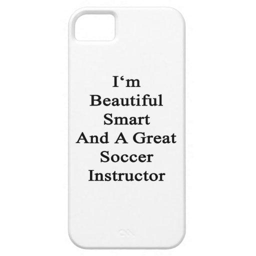 Soy Smart hermoso y gran instructor del fútbol iPhone 5 Protectores