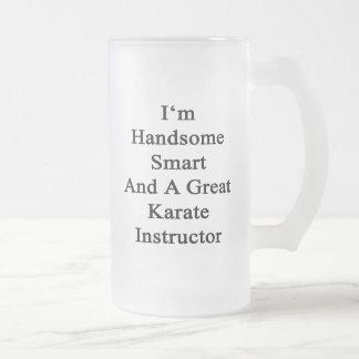 Soy Smart hermoso y gran instructor del karate Taza Cristal Mate