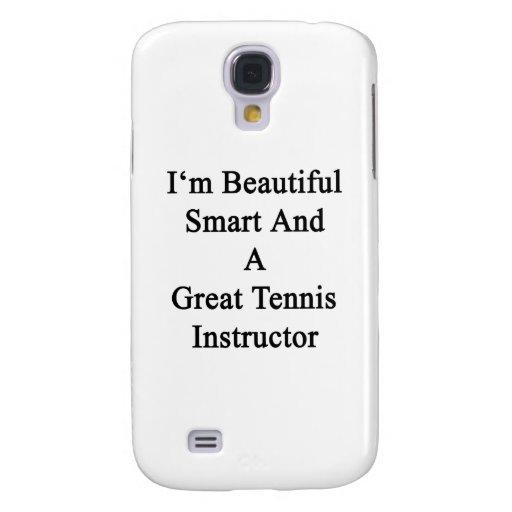 Soy Smart hermoso y gran instructor del tenis Funda Para Galaxy S4