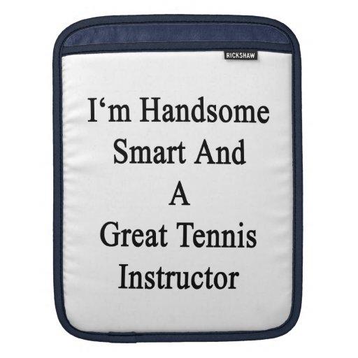 Soy Smart hermoso y gran instructor del tenis Fundas Para iPads