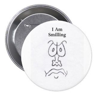 SOY SMILLING PIN REDONDO DE 3 PULGADAS