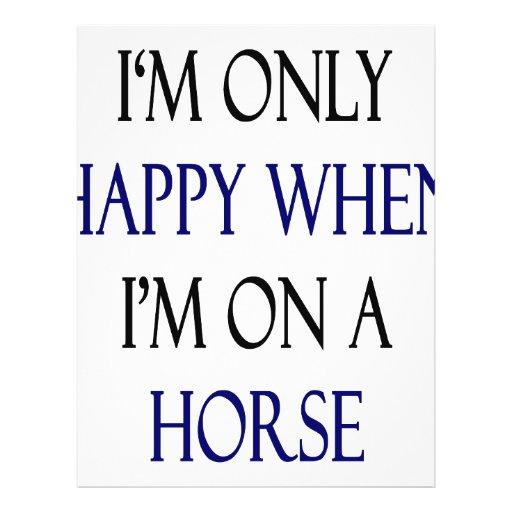 Soy solamente feliz cuando estoy en un caballo tarjetas publicitarias