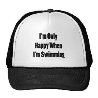 Soy solamente feliz cuando estoy nadando gorros bordados