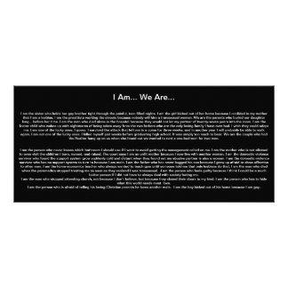 Soy… Somos… Tarjeta Publicitaria Personalizada