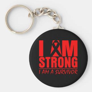 Soy - soy un superviviente - cáncer de sangre fuer llavero redondo tipo pin