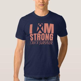 Soy - soy un superviviente - cáncer uterino fuerte playera