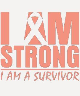 Soy - soy un superviviente - cáncer uterino fuerte tshirt