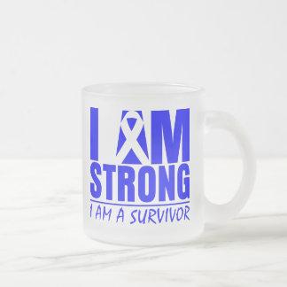Soy - soy un superviviente - Histiocytosis fuerte Taza Cristal Mate