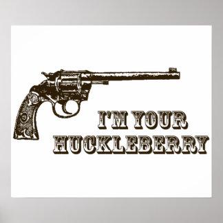 Soy su arma occidental del arándano póster
