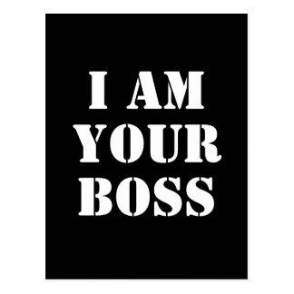 Soy su Boss. Personalizado Postal