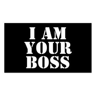 Soy su Boss. Personalizado Tarjetas De Visita