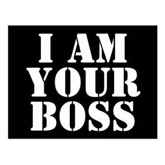 Soy su Boss. Personalizado Tarjetas Postales