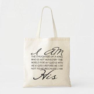 Soy su inspiración cristiana bolsa tela barata