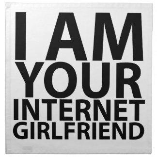 soy su novia tshirts.png del Internet Servilleta Imprimida