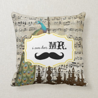 Soy su pavo real del bigote de la partitura de Sr. Cojin