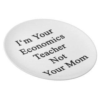 Soy su profesor de la economía no su mamá platos para fiestas