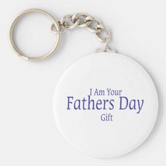 Soy su regalo del día de padres llavero redondo tipo pin