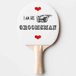 Soy SU Sr. Groomsman Pala De Tenis De Mesa