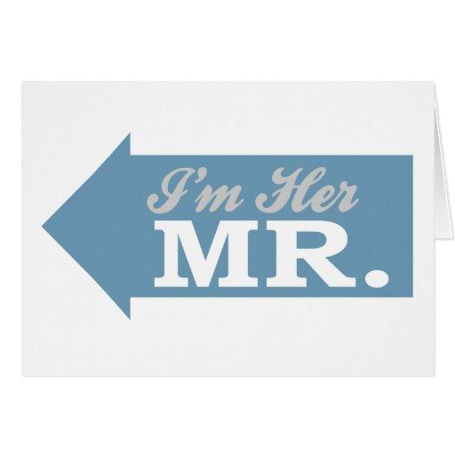 Soy su Sr. (la flecha azul) Tarjeta De Felicitación