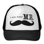 Soy su Sr. Mustache Grooms Gifts Gorros Bordados
