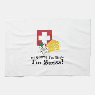 ¡Soy suizo! Toalla De Cocina
