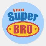 Soy superhéroe estupendo Brother de Bro Pegatina Redonda
