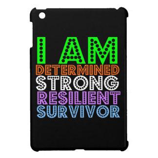 Soy superviviente resistente resuelto fuerte del c iPad mini coberturas