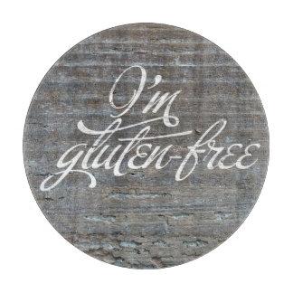 Soy tabla de cortar redonda Gluten-Libre
