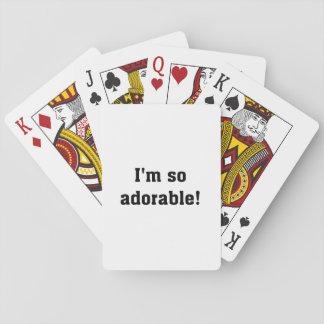 Soy tan adorable baraja de póquer