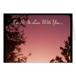 Soy tan en amor con usted… tarjeta