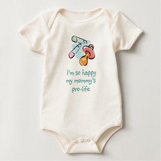 Soy tan feliz mi mamá antiabortista mamelucos de bebé