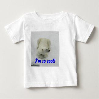 ¡Soy tan fresco! Camiseta del bebé del oso polar