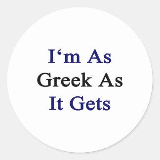 Soy tan griego como consigue pegatina redonda