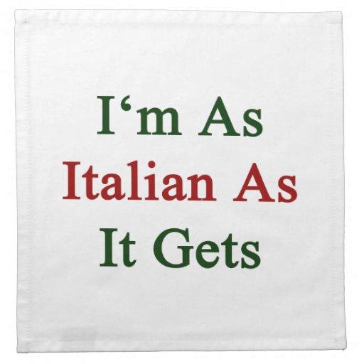 Soy tan italiano como consigue servilletas
