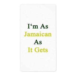 Soy tan jamaicano como consigue etiqueta de envío