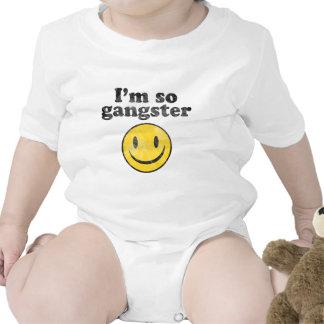 Soy tan smiley del gángster traje de bebé